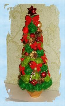 Большая новогодняя елка из сезаля
