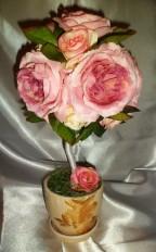 Топиарий «Розовые розы»