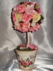 Топиарий «Нежная роза»